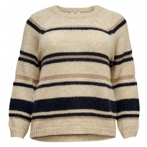 ONLY Carmakoma Sweter beżowy