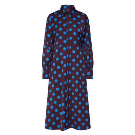 Y.A.S Sukienka koszulowa 'GWEN' niebieski / czerwone wino