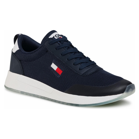 Sneakersy TOMMY JEANS - Flexi Runner EM0EM00490 Twilight Navy C87 Tommy Hilfiger