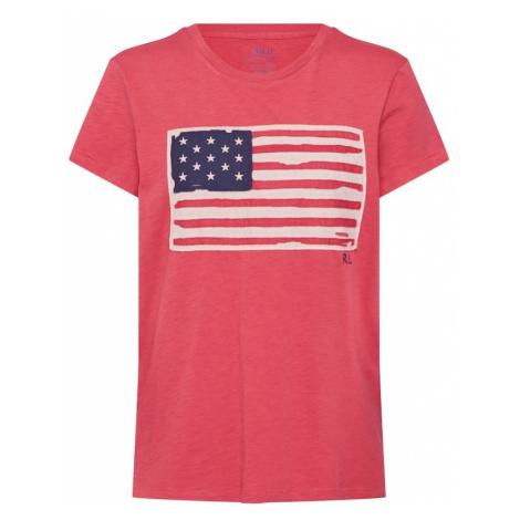 POLO RALPH LAUREN Koszulka 'SS FLAG TEE-SHORT SLEEVE-KNIT' pastelowa czerwień