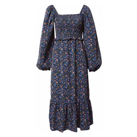 Missguided Sukienka 'FRILL' niebieski / oliwkowy / różowy pudrowy