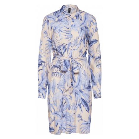 Y.A.S Sukienka koszulowa kremowy / jasnoniebieski