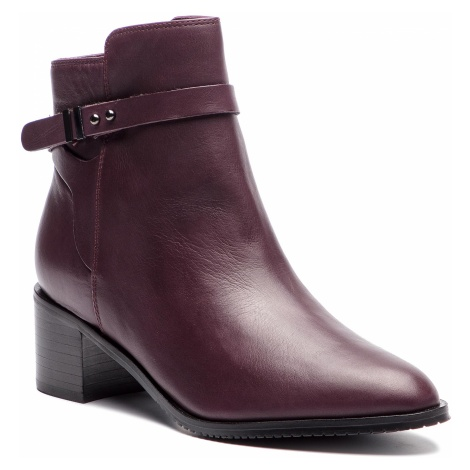 Botki CLARKS - Poise Freya 261360044 Aubergine Leather