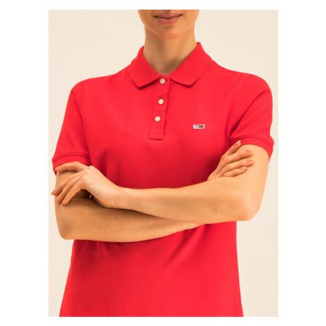 Tommy Jeans Polo Classics DW0DW07641 Czerwony Regular Fit Tommy Hilfiger