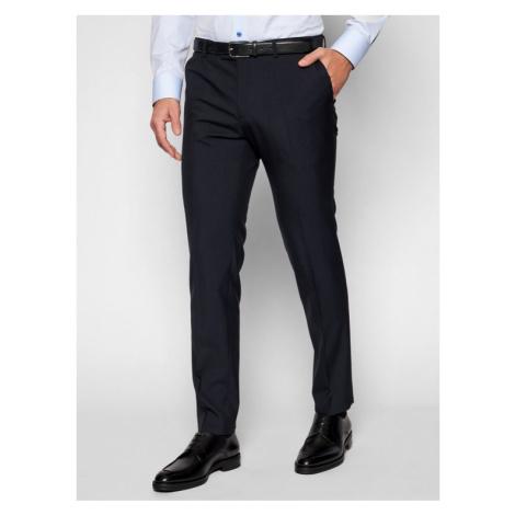 Oscar Jacobson Spodnie garniturowe Damien 537 8515 Granatowy Slim Fit