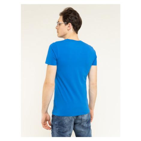Pepe Jeans T-Shirt Original Stretch PM501594 Niebieski Slim Fit