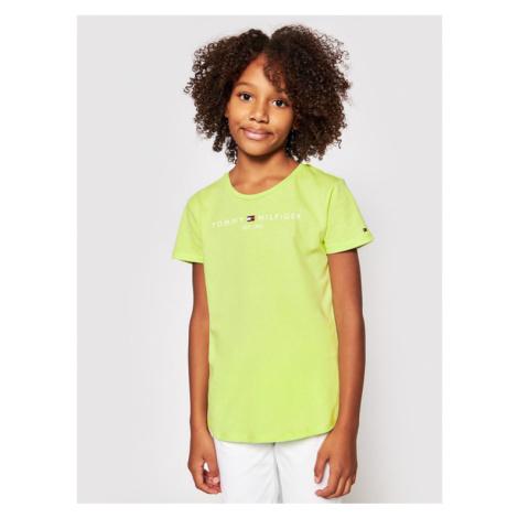 Tommy Hilfiger T-Shirt Essential KG0KG05242 D Zielony Regular Fit