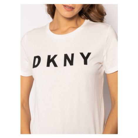 DKNY T-Shirt W3276CNA Biały Regular Fit