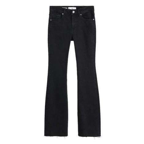 MANGO Jeansy czarny