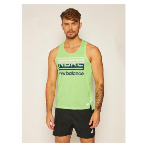 New Balance Koszulka techniczna Printed Impact Run MT01233 Zielony Athletic Fit