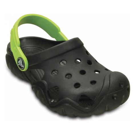 buty dziecięce Crocs Swiftwater Clog - Black/Volt Green