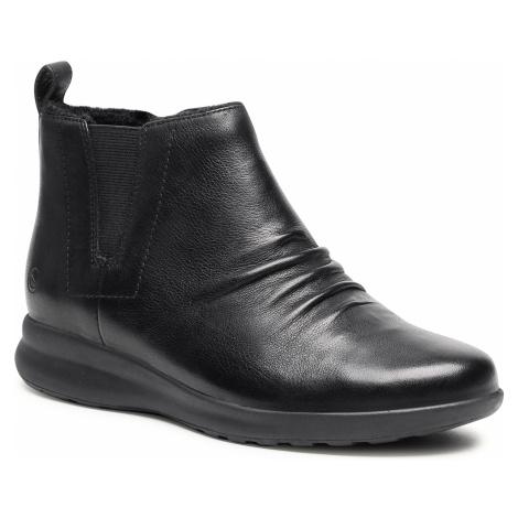 Botki CLARKS - Un Adorn Mid2 261525704 Black Leather