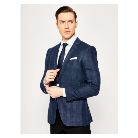 Boss Marynarka Hutsons4 50427219 Granatowy Slim Fit Hugo Boss