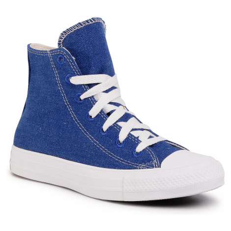 Trampki CONVERSE - Ctas Hi 166741C Rush Blue/Natural/White