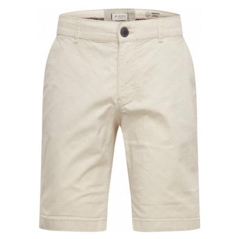 SELECTED HOMME Spodnie kremowy