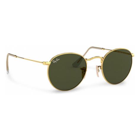 Ray-Ban Okulary przeciwsłoneczne Round Metal 0RB3447 001 Złoty