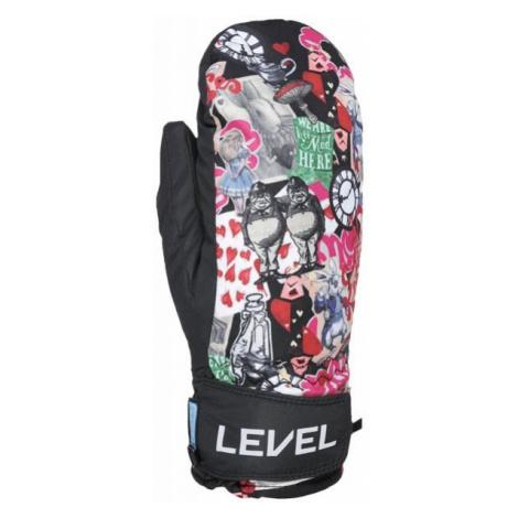 Level JUKE JR MITT czarny 5.5 - Rękawice narciarskie dziecięce