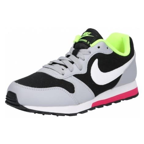 Nike Sportswear Trampki 'MD Runner 2' szary / zielony / czarny