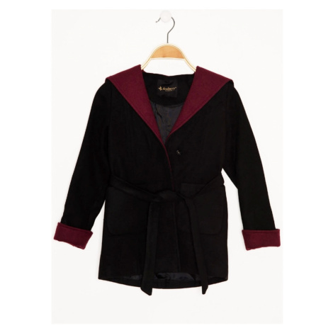 Z8002 DEWBERRY GIRL CHILDREN'S COAT-BLACK