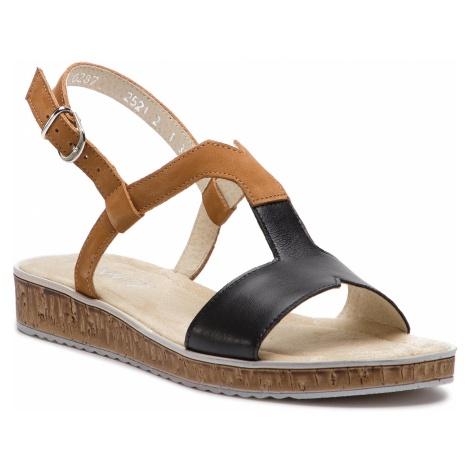 Sandały ANN MEX - 0287 01S+44W Czarno/Brązowy
