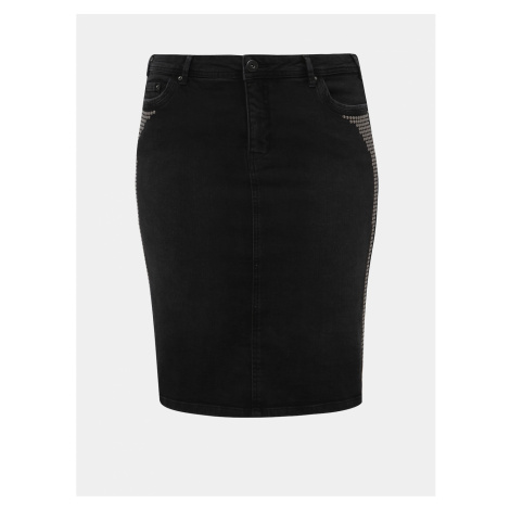 Szare spódnice jeansowe