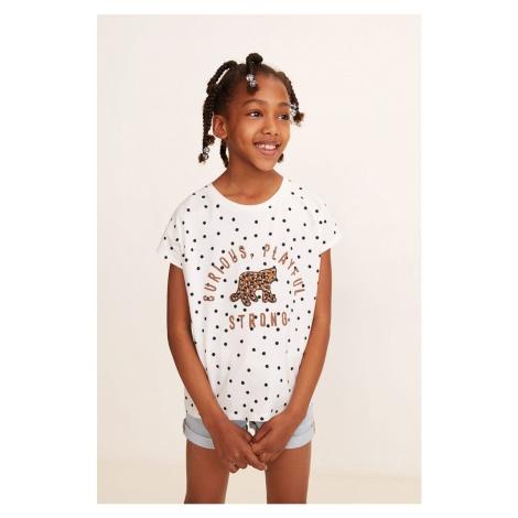 Mango Kids - Top dziecięcy Animal 110-164 cm