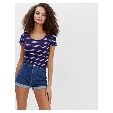 Brave Soul rib t shirt in stripe