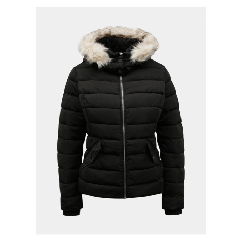 Black winter chive jacket with artificial fur TALLY WEiJL