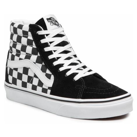 Sneakersy VANS - Sk8-Hi VN0A32QGHRK1 (Checkerboard) Blk/Tr Wht
