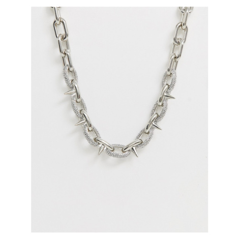 ASOS EDITION neckchain with spike detail and crystal design