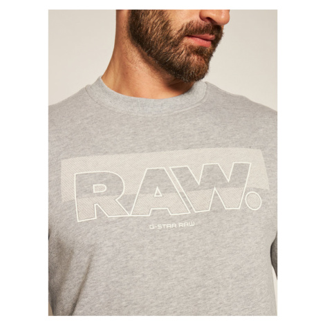 G-Star Raw Bluza Raw Block Raster D17897-A613-906 Szary Straight Fit