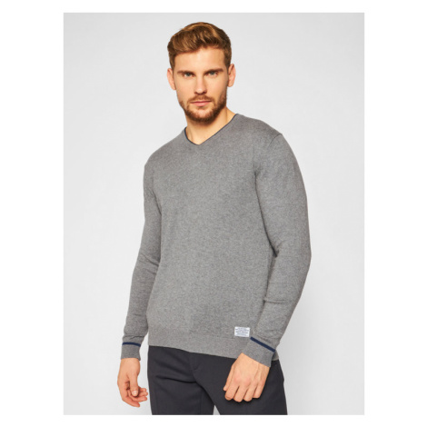 Pepe Jeans Sweter Pedro PM702064 Szary Regular Fit