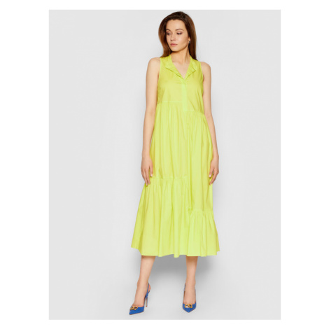 TwinSet Sukienka codzienna 211TT2458 Żółty Regular Fit