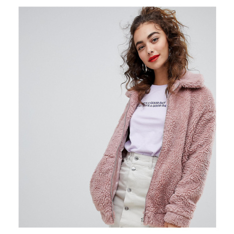 New Look Teddy Faux Fur Bomber Jacket