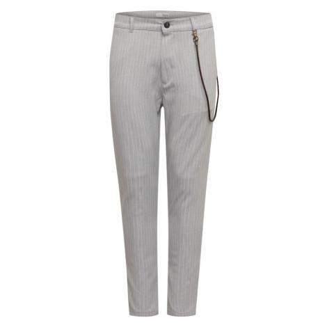 !Solid Spodnie 'Jim CR' jasnoszary / biały