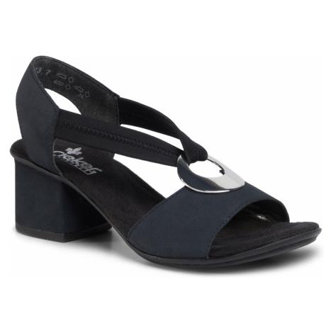 Sandały RIEKER - 64673-14 Blau Kombi