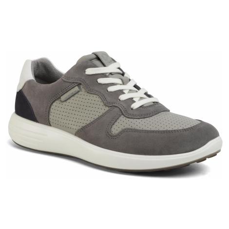 Sneakersy ECCO - Soft 7 Runner M 46062451837 Titanum/Wild Dove/White/Navy