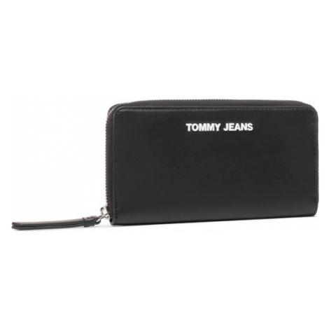 Tommy Jeans Duży Portfel Damski Twj Pu Lg Za Wallet AW0AW08978 Czarny Tommy Hilfiger