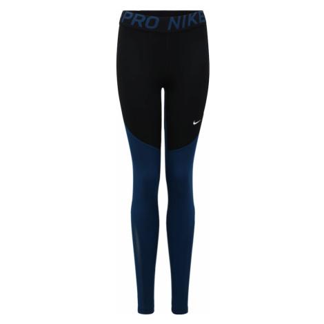 NIKE Spodnie sportowe 'Nike Pro' ciemny niebieski / czarny