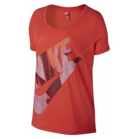 Nike W NSW TEE SS SKYSCRAPER czerwony S - Koszulka damska