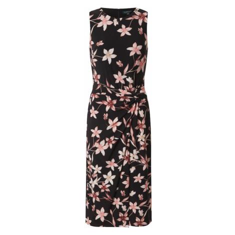 Lauren Ralph Lauren Sukienka 'Kava' czarny / różowy