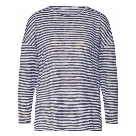 NA-KD Koszulka niebieski / biały