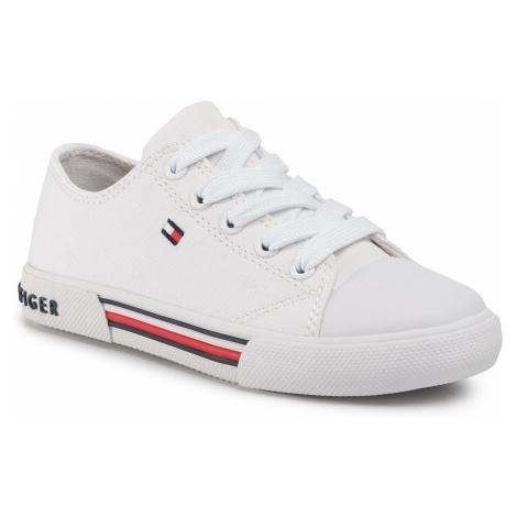 Trampki TOMMY HILFIGER - Low Cut Lace Up Sneaker T3X4-30692-0890 M White 100