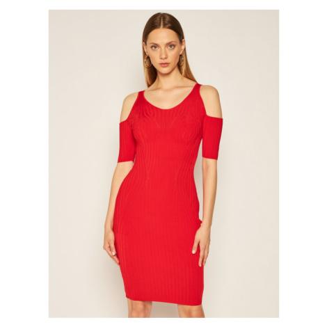 Guess Sukienka dzianinowa Jessica W0YK59 Z2NH0 Czerwony Slim Fit