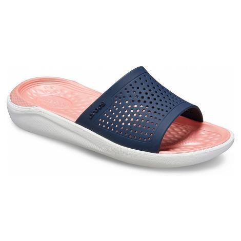 buty Crocs LiteRide Slide - Navy/Melon