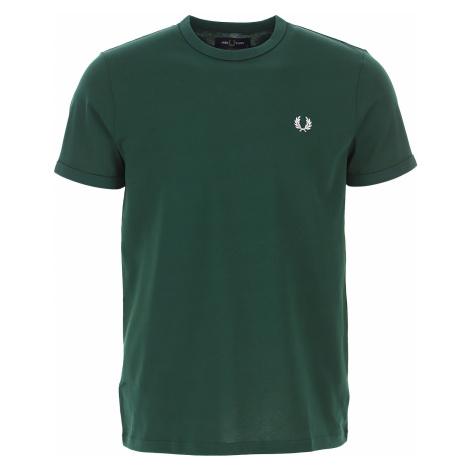 Fred Perry Koszulka dla Mężczyzn Na Wyprzedaży, zielony (Ivy Green), Bawełna, 2019