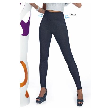 Damskie legginsy z dżinsowym wzorem Blair Bas Bleu