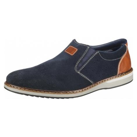 RIEKER Pantofle granatowy / koniakowy