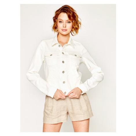 Marc O'Polo Kurtka jeansowa 002 0032 25041 Biały Regular Fit
