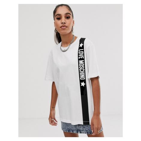 Love Moschino tape detail t-shirt